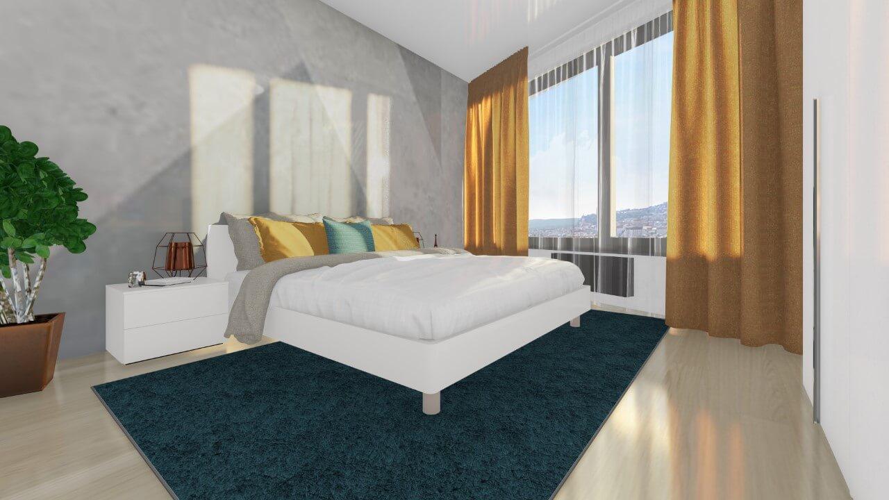 spálňa - trojizbový menší byt premium