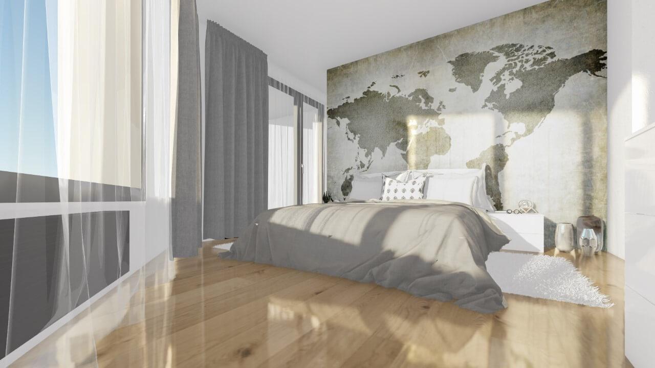 spálňa - štvorizbový byt premium