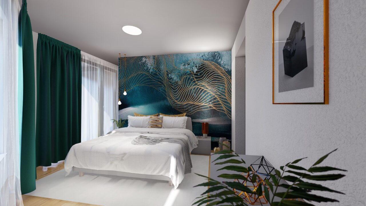 spálňa - štvorizbový byt economy