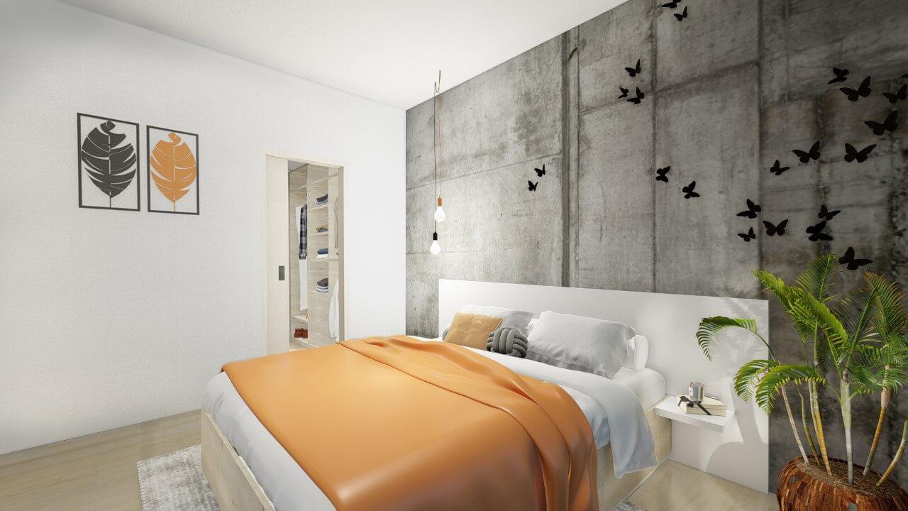 spálňa - dvoj izbový menší byt premium