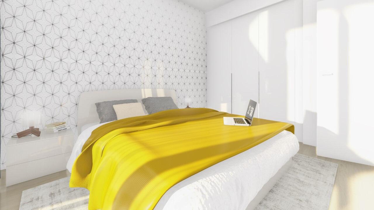spálňa - dvojizbový väčší byt economy