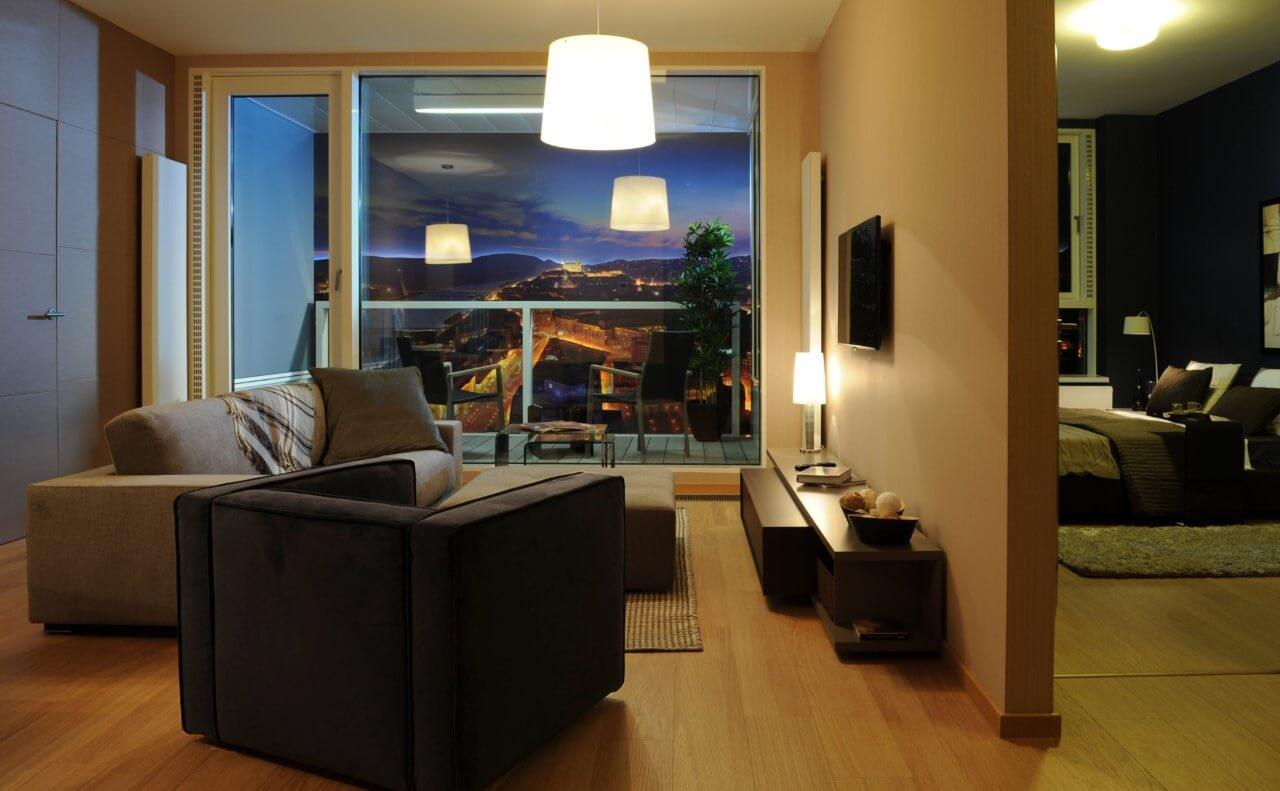 Panorama City - vzorový byt č.1 - obývacia izba