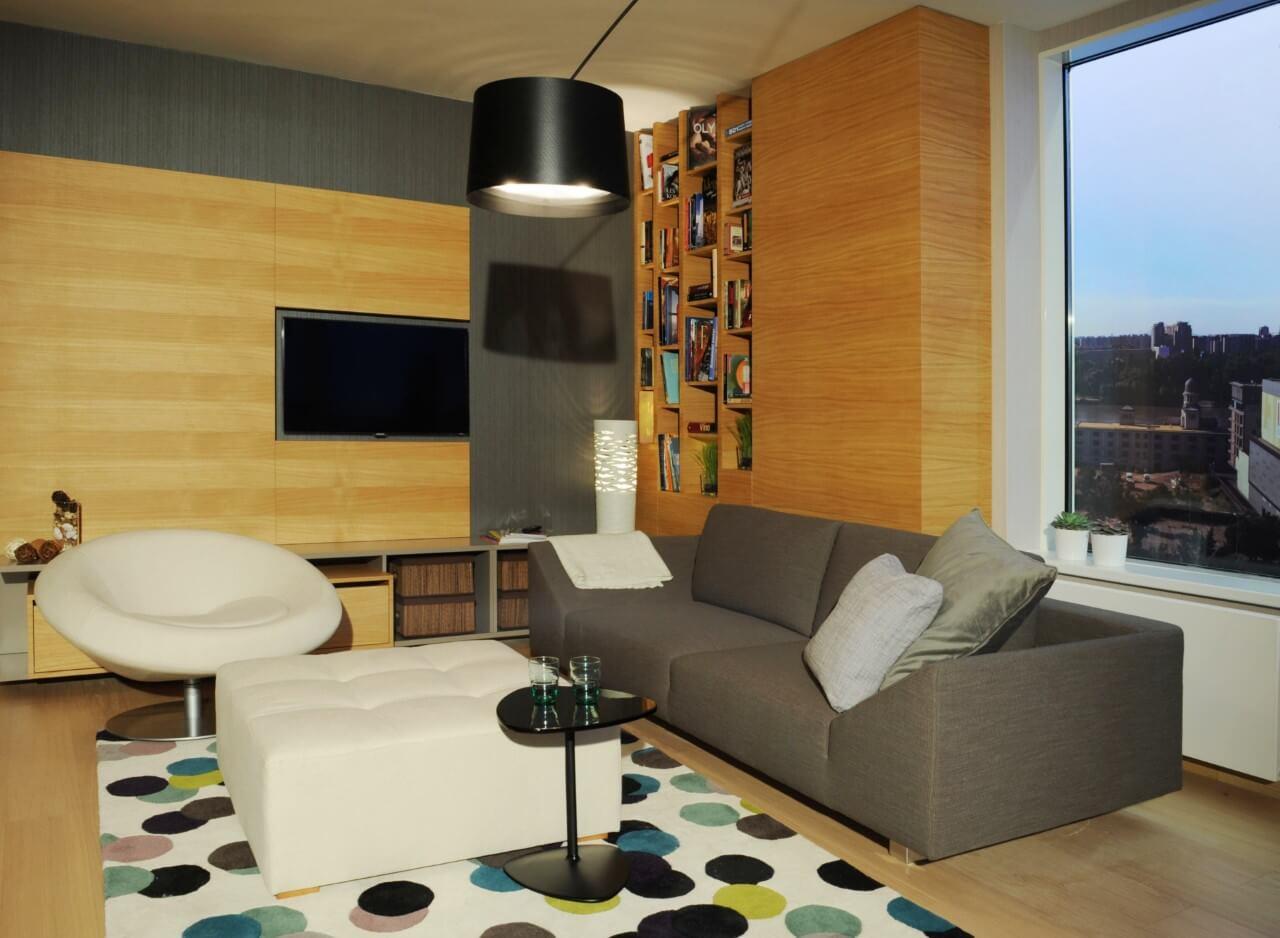 Panorama City - vzorový byť č.3 - obývacia izba