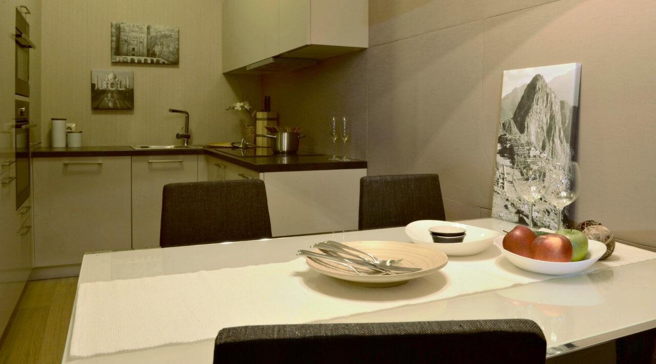 Panorama City - vzorový byt č.1 - kuchyňa