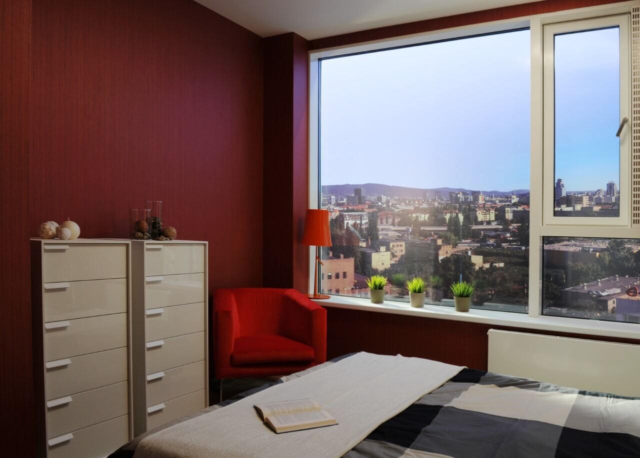 Panorama City - vzorový byť č.2 - spálňa