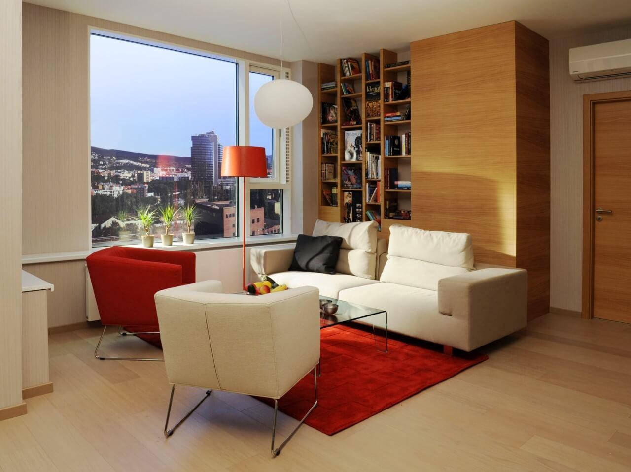 Panorama City - vzorový byť č.2 - obývacia izba