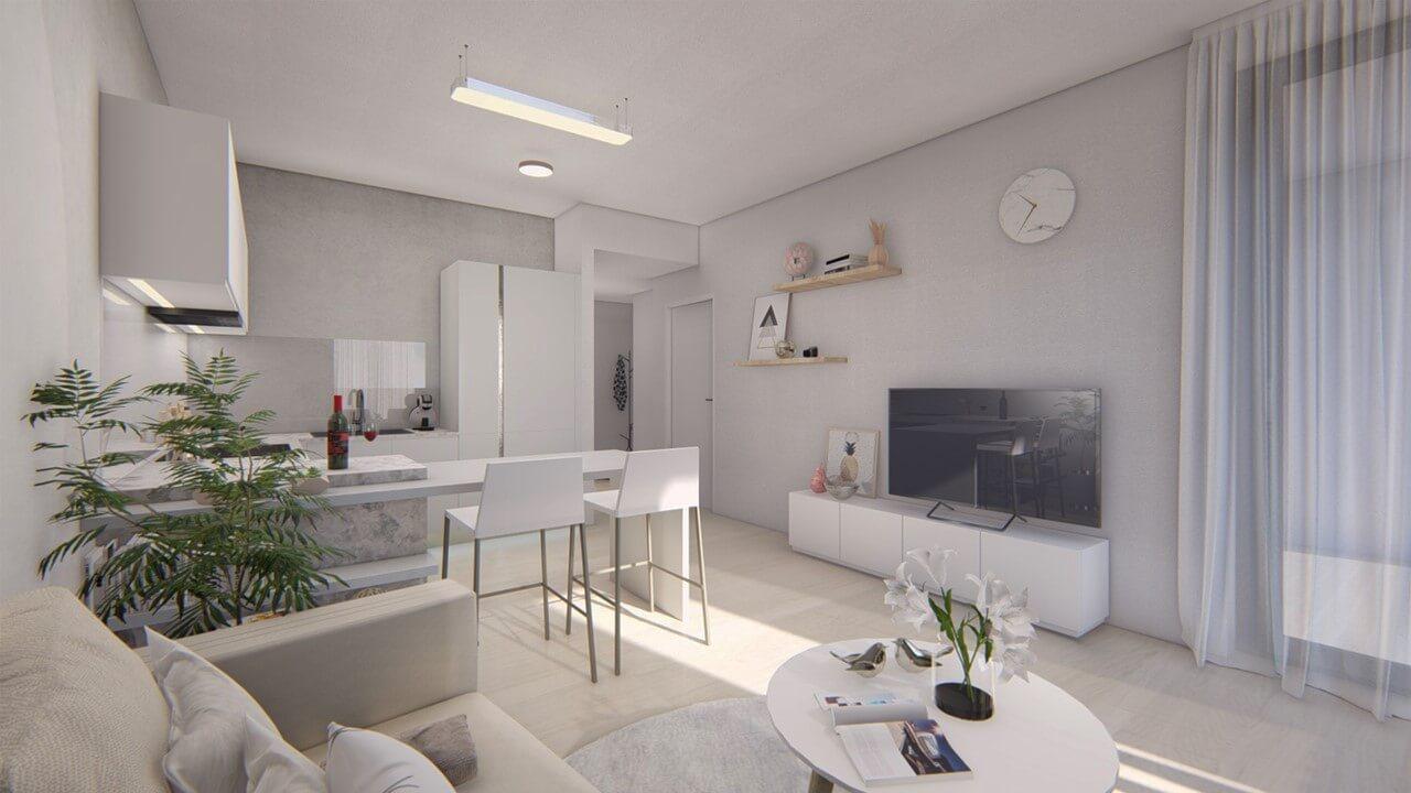 Dvojizbový menší byt economy