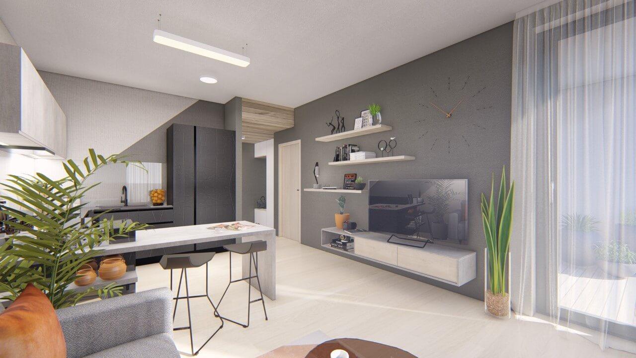 Dvojizbový menší byt premium