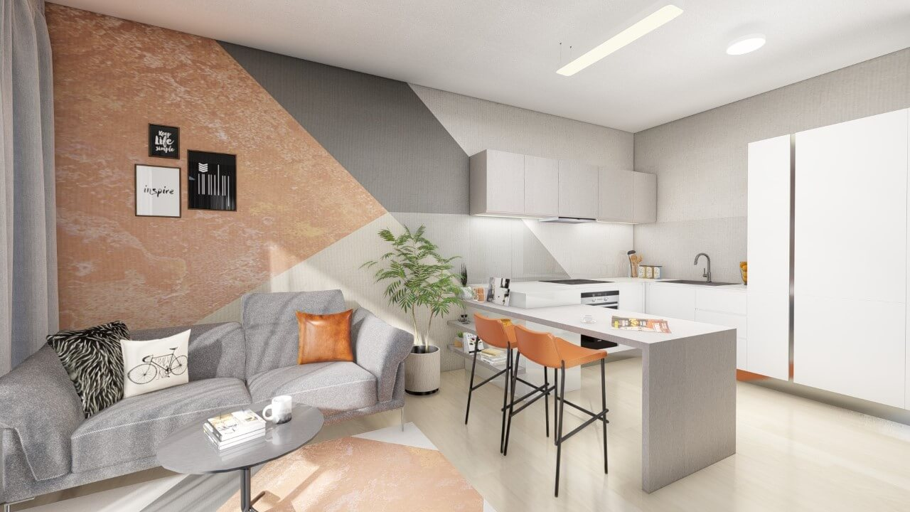 Obývačka s kuchyňou – tipy a nápady