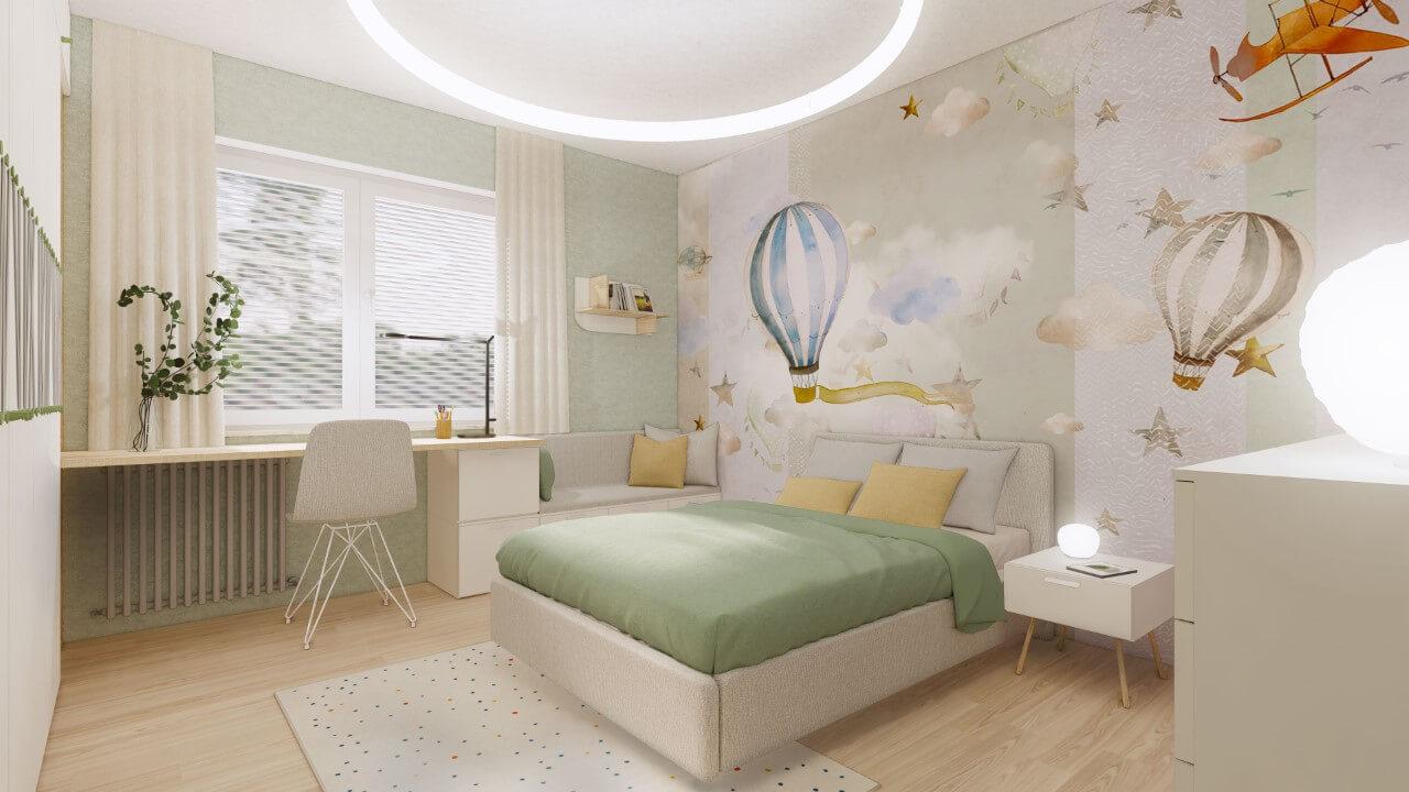 Viladomy Slávičie - vizualizácia - detská izba