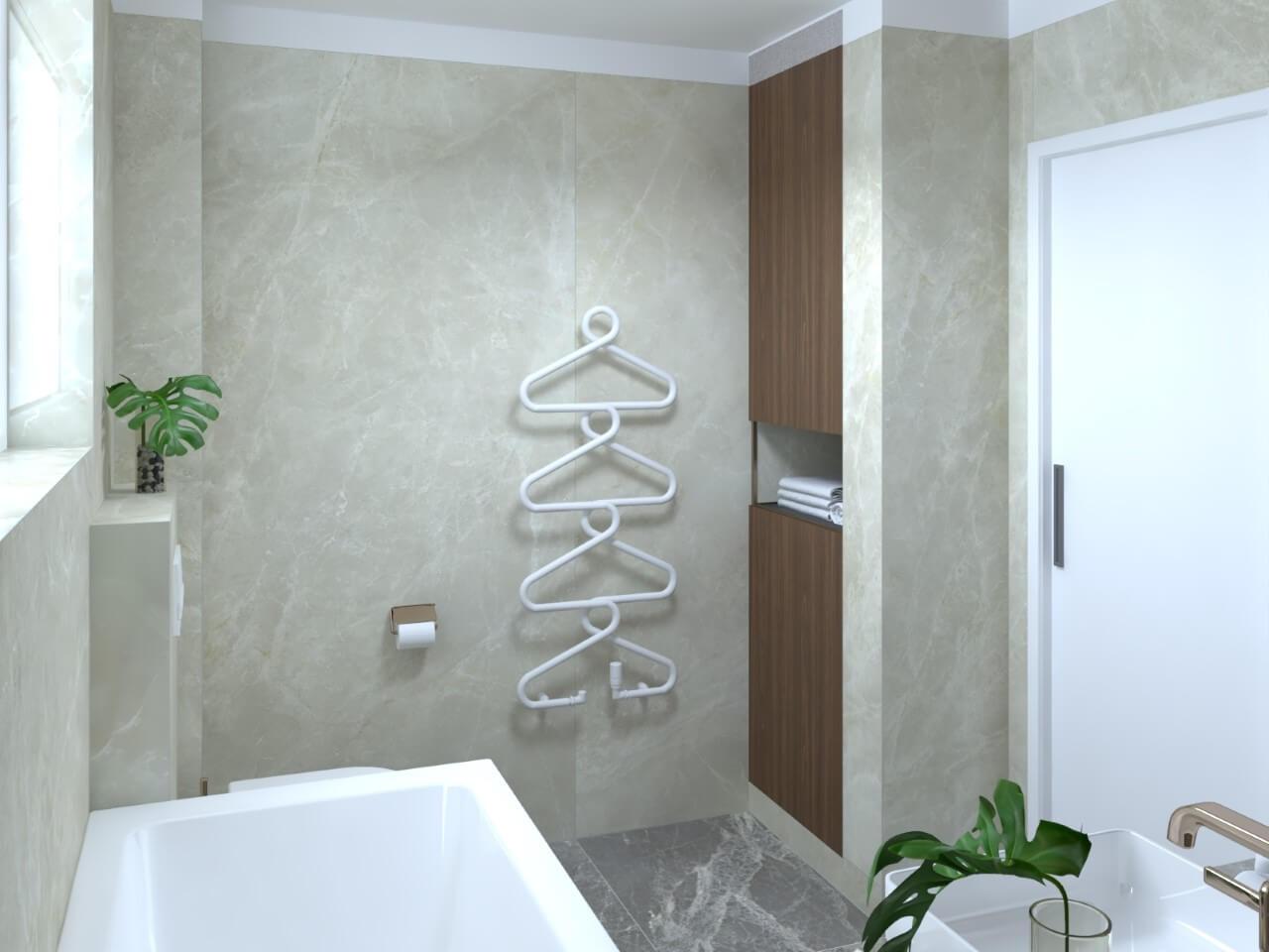 Viladomy Slávičie - vizualizácia - kúpelňa