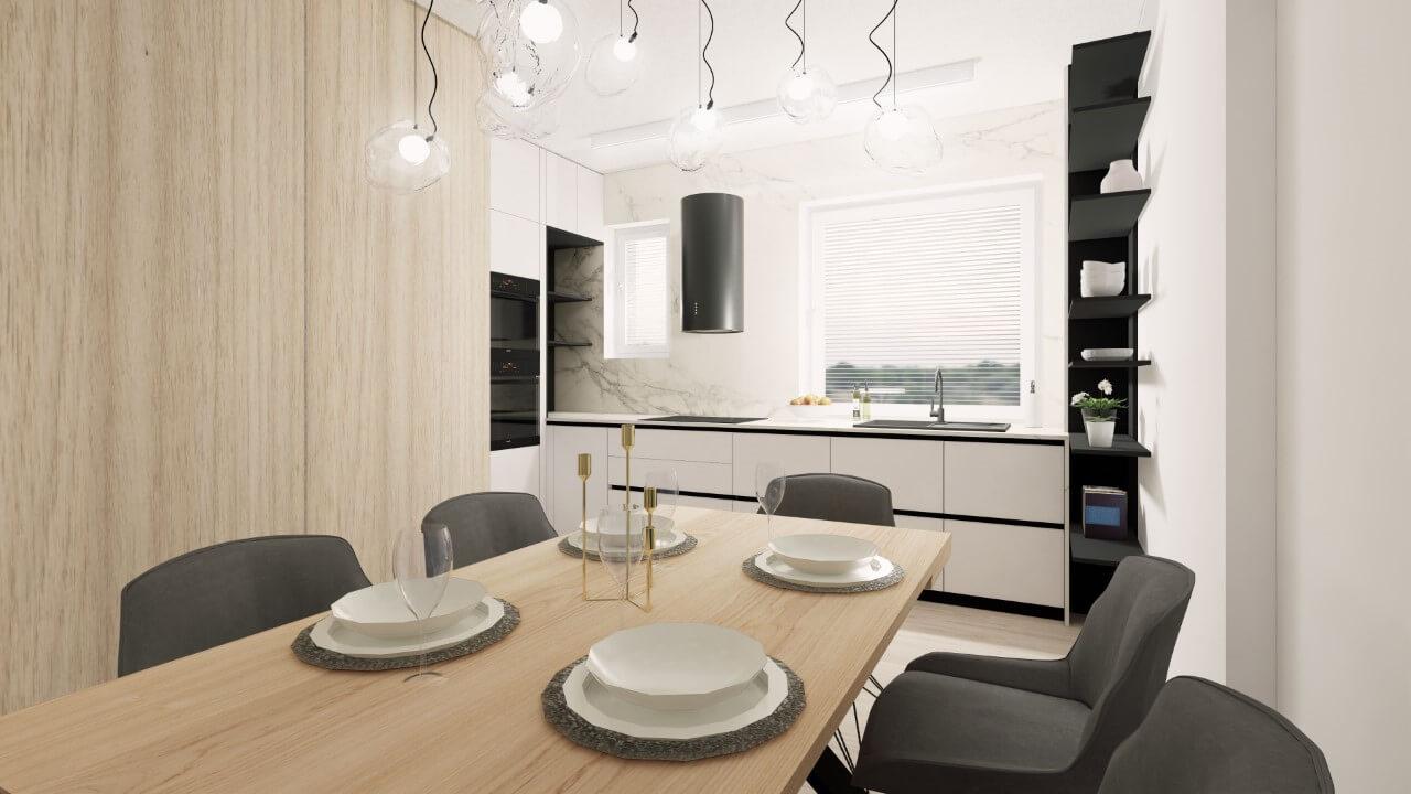 Viladomy Slávičie - vizualizácia - kuchyňa