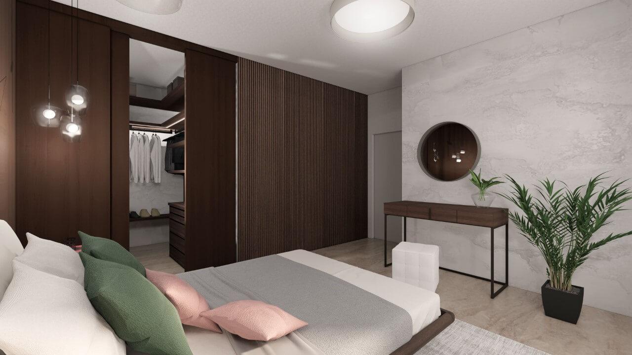 Viladomy Slávičie - vizualizácia - spálňa