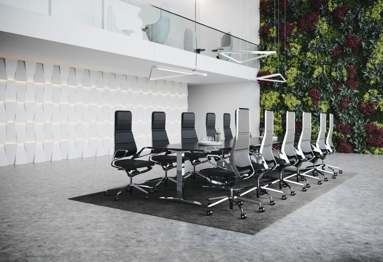 Rokovacie kancelárske stoličky Auray conference