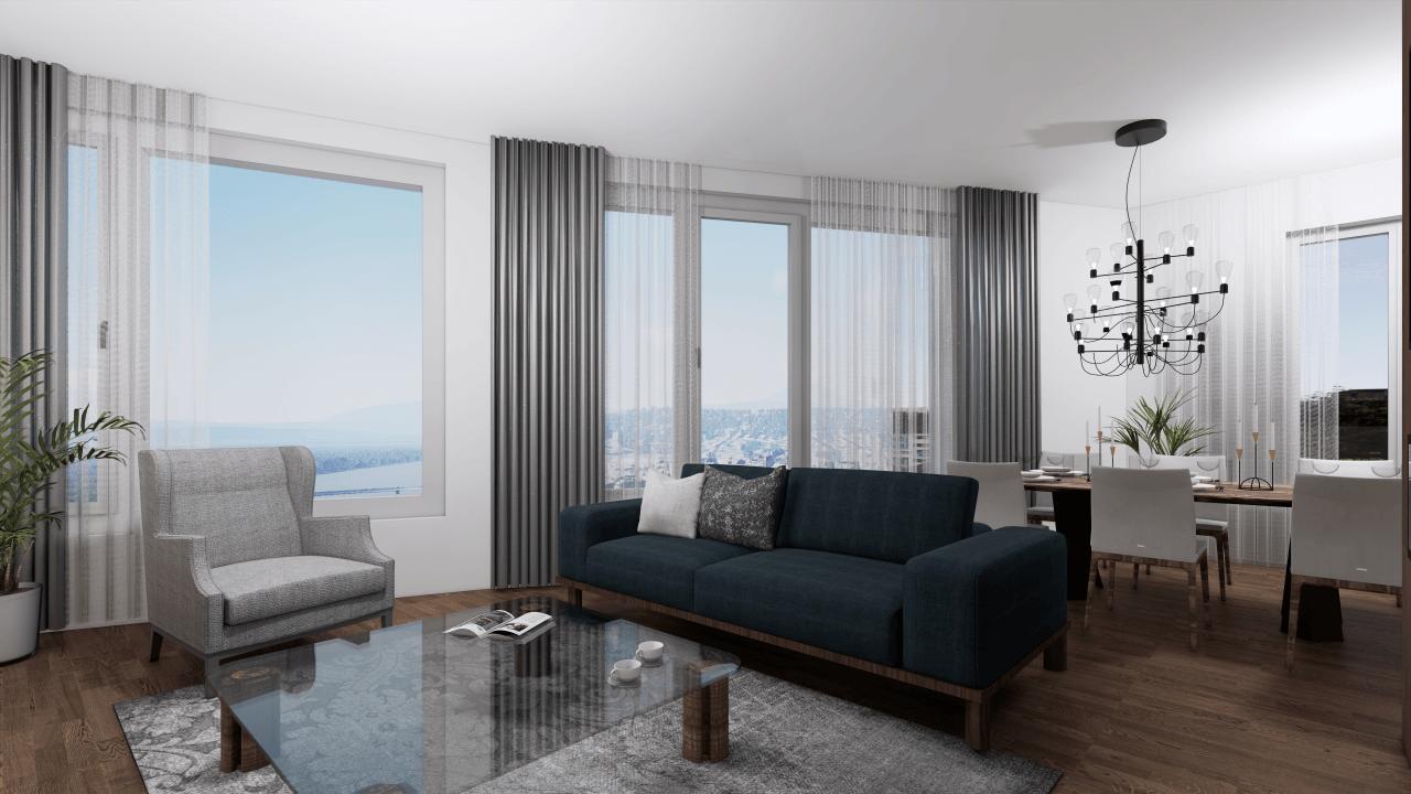 obývačka - vizualizácia